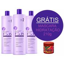 Kit Selagem Termica Plastica Dos Fios Cadiveu 3x1lt + Brinde
