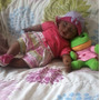 Linda Boneca Bebê Negra Ifa Apx:58 Cm Falando Com Brindes...