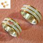 Aliança De Namoro Coração Prata Ouro 7mm 14gramas - Alc08 26