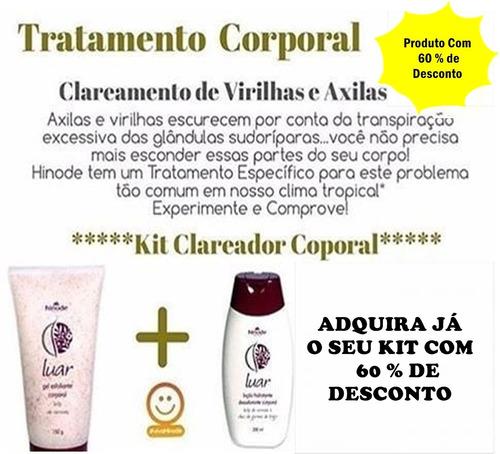 Clareador Para Axilas Virilha Cotovelos Kit Promocional R 80