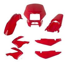 Kit Carenagem Completo Honda Bros 2003 2008 Vermelho