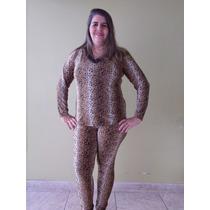 Pijama Longo Feminino De Liganete Rendado