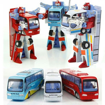 Miniatura Ônibus Robô Transforme Brinquedo