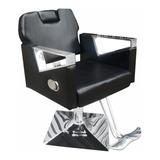Cadeira De Barbeiro Reclinável Pelegrin Pel-s040 Couro Pu
