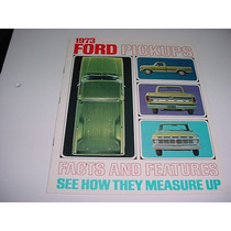 Folder Ford F100 F-100 Pickup Picape Furgao 73 1973 V8 F 100