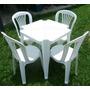 Conjunto De 1 Mesa E 4 Cadeiras