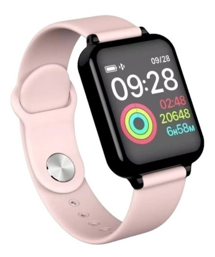 Relógio Rosa Feminino Smartwatch Android Ios Bluetooth Touch