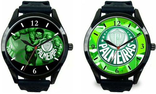 db8ee6750c8 Kit 2 Relógio Pulso Masculino Palmeiras Barato Personalizado