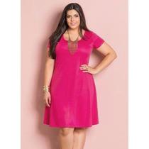 Vestido Pink Versátil Plus Size - Roupa Gordinhas Lindas