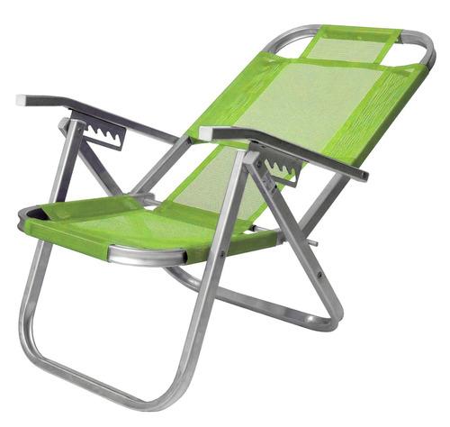 Cadeira De Praia Alumínio Ipanema - Verde Primavera Botafogo