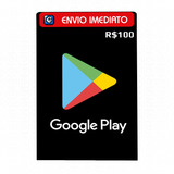 Cartão Play Store Google Gift Card R$ 100 Reais Android
