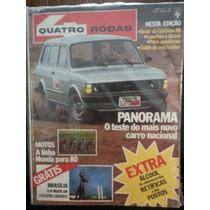 Revista Quatro Rodas 237 Abr/80 Panorama Caravan Motos-honda