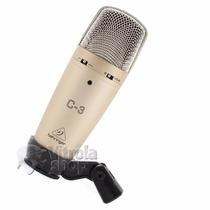 Microfone Condensador Behringer C3 Duplo Diafragma Garantia