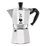 Cafeteira Bialetti  Moka Express 6 Cups Prata