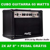 Cubo Ampli Caixa Guitarra Gtx 2.8 60 Watts 2 Af8 + Brinde