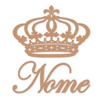 Coroa De Princesa Mdf 60 Cm + Nome Em De 60 Cm - Mdf Festa