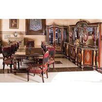 Luxuosa Mesa Jantar Estilo Clássico Europeu Antigo Completo