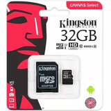 Cartão De Memória 32gb Classe 10 Kingston Original Micro Sd