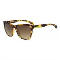 Óculos De Sol Calvin Klein Jeans Havana Lente Marrom