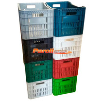 Caixa Plástica Hortifruti Organizadora Colorida Kit Com 6