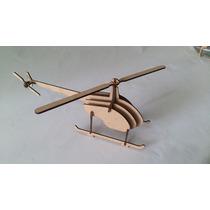 Quebra Cabeça 3d - Coleção Aviões - Helicóptero Repórter