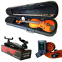 Kit Violino Barth Nt 4/4 C/estojo+ Espaleira+ Afin+frete-bk
