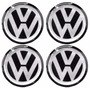 Adesivo Resinado Volkswagen P/calota Ou Roda C/4 Peças 110mm