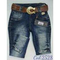 Calça Feminina Jeans Oppnus Cós Médio Lycra