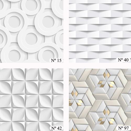 Papel Parede 3 D Geometrico  Varios Modelos Adesivo Lavavel