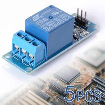 5pcs 5v 1 Canal Escudo Módulo De Relé Optocoupler Para Pic