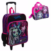 Kit Mochila De Rodinha E Lancheira Monster High - Sestini