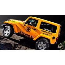 Kit Faixas Adesivos Off Road Us Army Jeep Old Soldiers Never