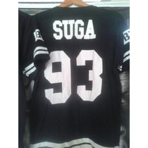 Camiseta Bts K- Pop 2 Listras Suga 93 / Got7 Big Bang Su Ju.