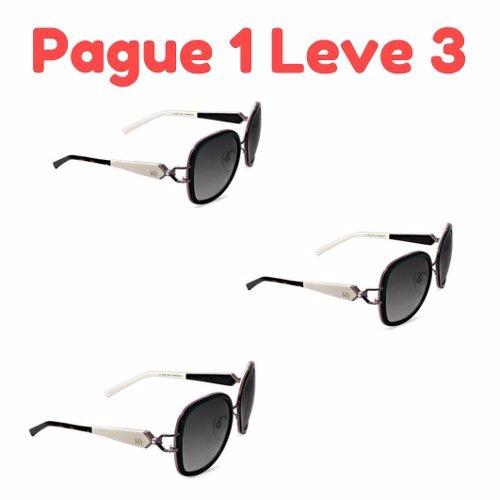 c548682a08848 Kit 3 Oculos De Sol Ana Hickman Original Mega Black Friday