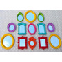 Kit 13 Mini Espelhos Decorativos Coloridos