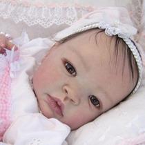 Bebê Reborn Bruna Linda Boneca Detalhes Reais Muito Barata