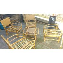 Jogo Completo De Cadeiras De Bambu