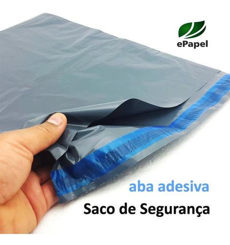300 Envelopes De Segurança 40x60 Sacos Plástico Aba Adesiva