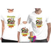 Camiseta - Camisa Personalizada Toy Story A4/ 3pçs