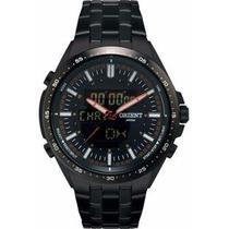 Relógio Orient Mpssa002 Popx Preto Pulseira Aço Wr 100m Nfe