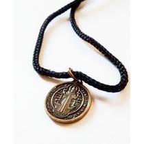 12 Cordões Com Medalha De São Bento Em Ouro Velho