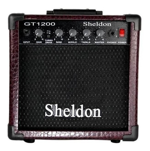 Amplificador Sheldon Gt1200 15w Bordô
