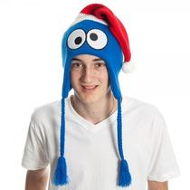 Gorro C/prot.orelhas Vila Sésamo, Cookie Monster - Kc05pjses