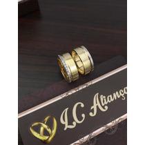 Par De Aliança Em Ouro 18k Noivado/casamento Modelo 1006