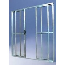 Porta Sacada 4.fls De Alum 2.10 X 1.80 Brilhante L-25