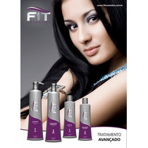 Kit Escova Progressiva Que Alisa Fit Cosmetics 2x1