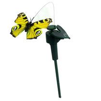 Borboleta Solar Voadora Enfeite De Jardim Vaso Decorativo