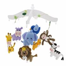 Mobile De Berço Safari Quarto Do Bebê Brinquedos