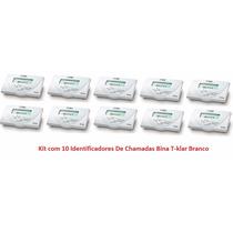 Kit 10 Identificadores De Chamadas Bina T-klar Tk-box Branco