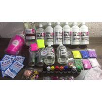 Kit P/fazer Slime Cola Branca E Transparente + Borax +espuma